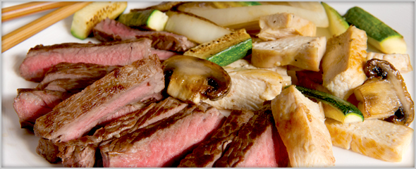 Hibachi Steak and Chicken for Two only $45